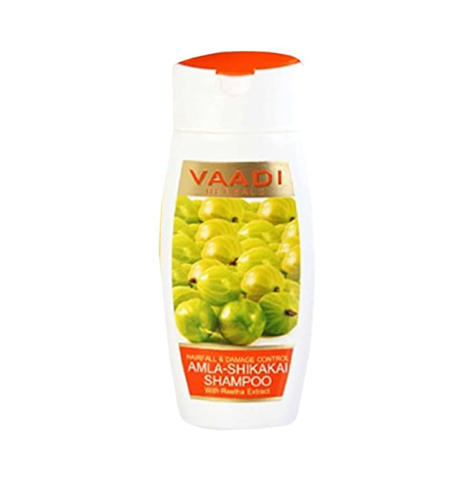 Vaadi Herbals Value Pack of Amla Shikakai Shampoo - Hairfall & Damage Control Pack of 3