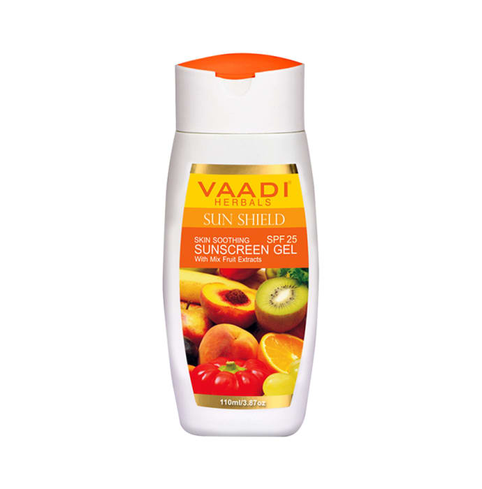 Vaadi Herbals Value Pack of Sunscreen Gel  SPF-25  with Mixfruit Extracts Pack of 3