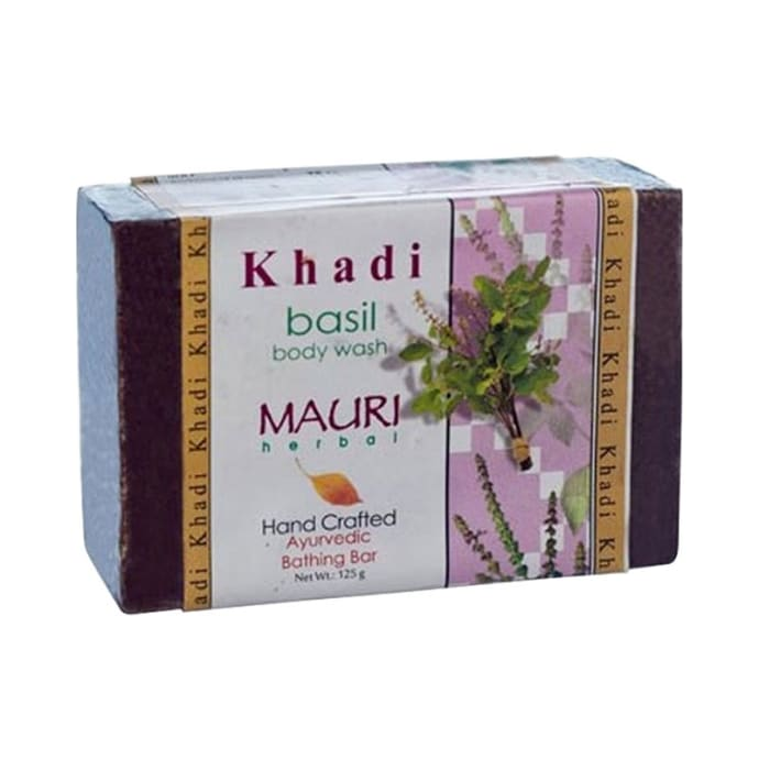Khadi Mauri Herbal Basil Soap