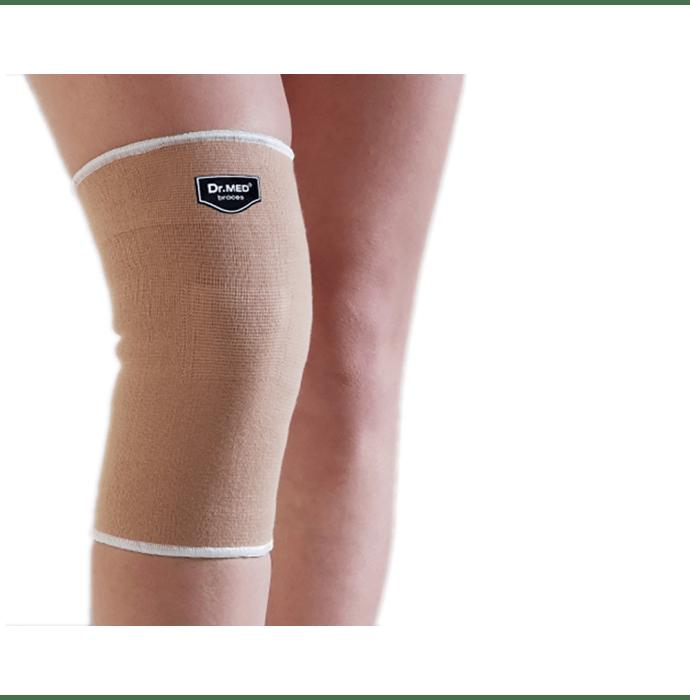 Dr MED Knee Sleeve Soft Compression Protects DR-K018 L Beige