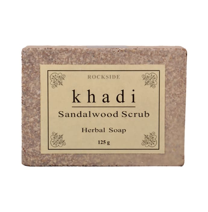 Khadi Naturals Sandalwood Scrub Herbal Soap Pack of 3