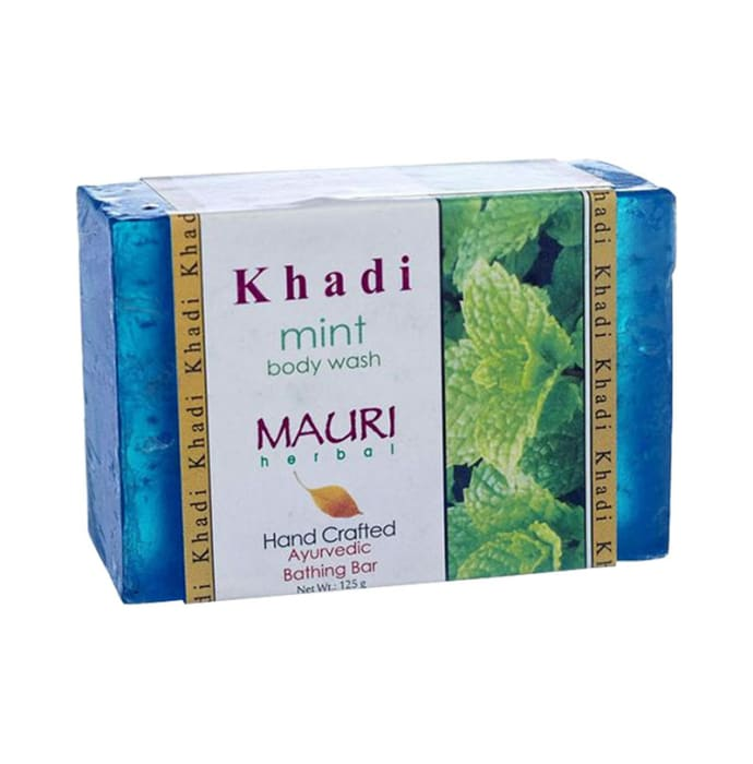 Khadi Mauri Herbal Mint Soap Pack of 2