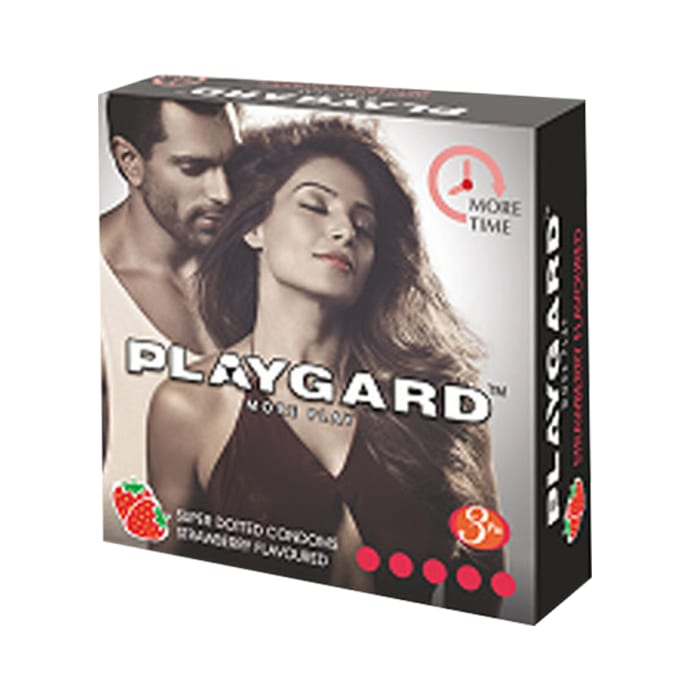 Playgard More Time Super Dotted Condom Chocolate Pack of 4