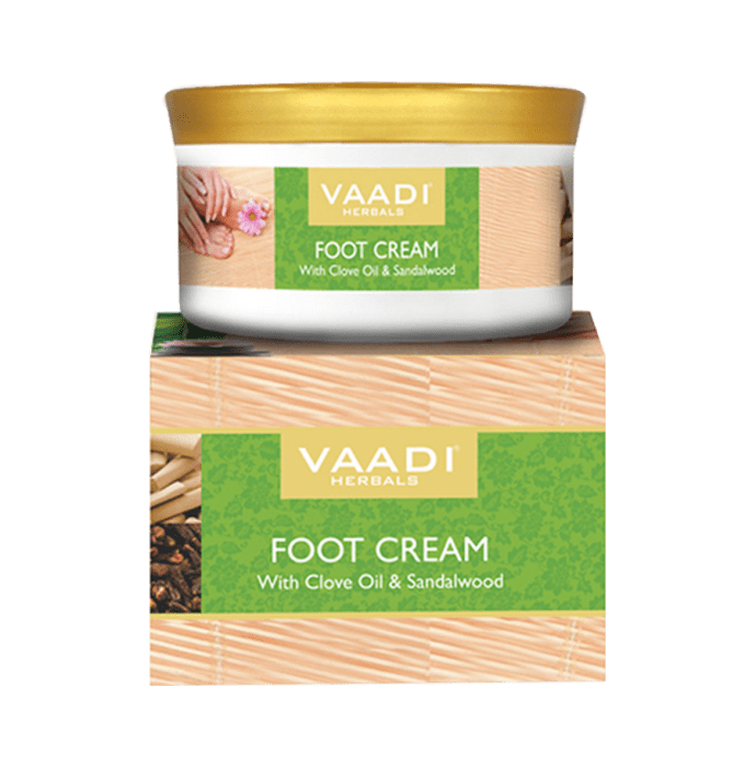 Vaadi Herbals Value Pack of Foot Cream - Clove & Sandal Oil Pack of 3