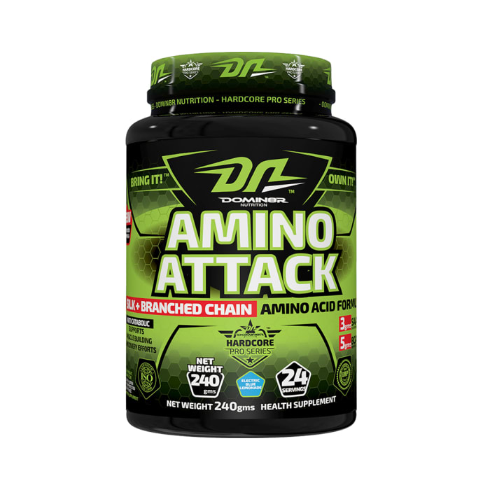 DOMIN8R Amino Attack Powder Electric Blue Lemonade