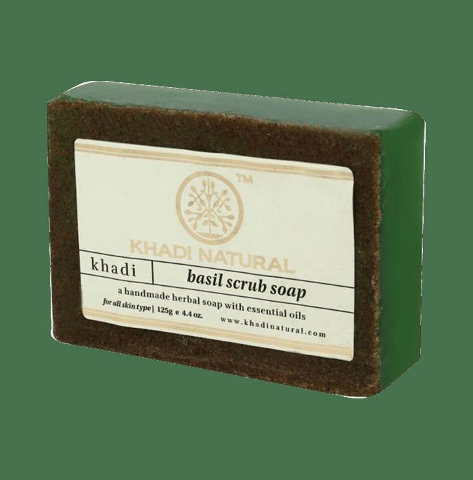 Khadi Naturals Ayurvedic Basil Scrub Soap