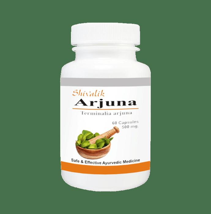 Shivalik Herbals Arjuna-Terminalia arjuna 500mg Capsule Pack of 2