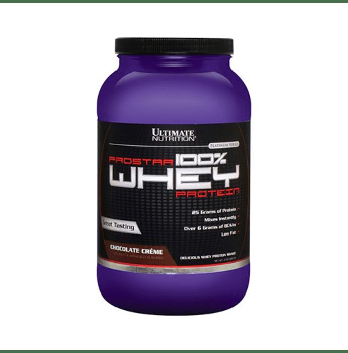 Ultimate Nutrition Prostar 100% Whey Protein Powder Chocolate Creme