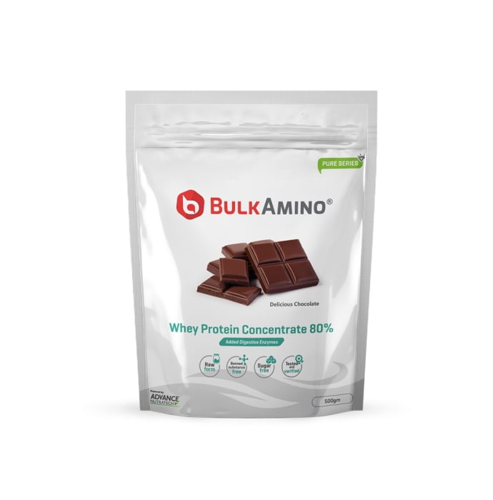 Advance Nutratech BulkAmino Whey Concentrate 80% Powder Delicious Chocolate