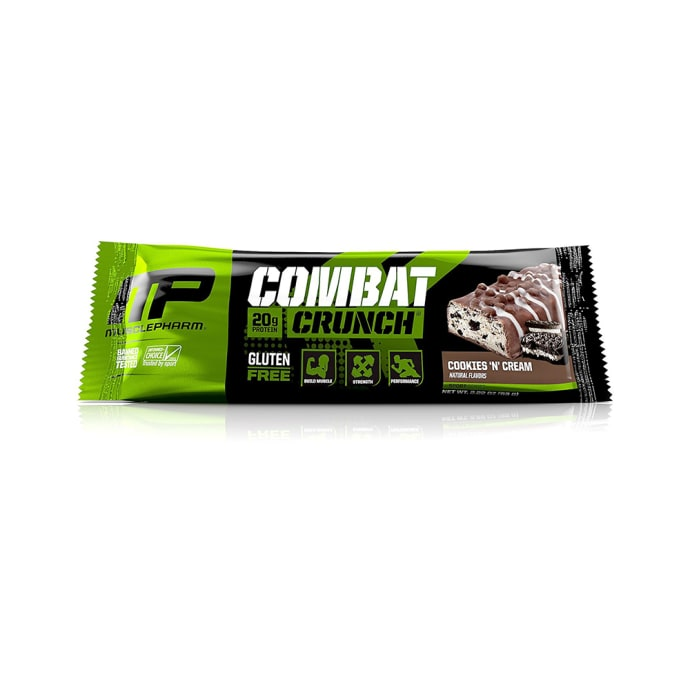 Muscle Pharm Combat Crunch Bars (63g Each) Cookies & Cream