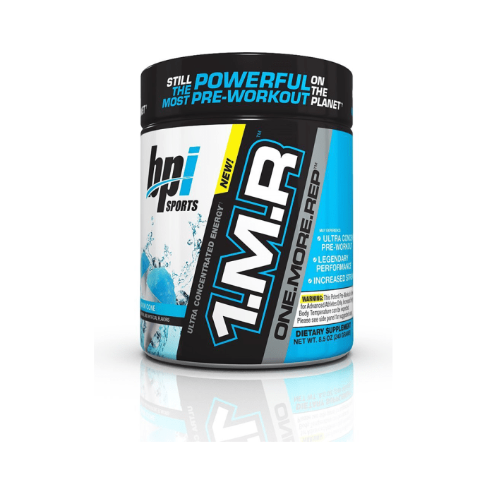 BPI Sports 1MR One More Rep Ultra Concentrated Energy Supplement Powder Snow Cone