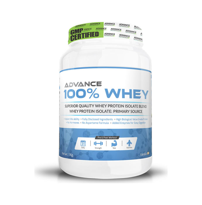 Advance Nutratech 100% Whey Protein Powder Vanilla