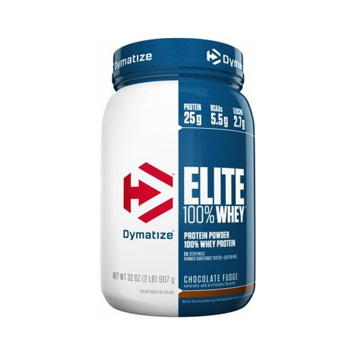 Dymatize Nutrition Elite 100% Whey Protein Powder Chocolate Fudge