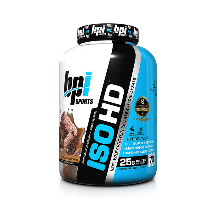 BPI Sports ISO HD 100% Whey Protein Isolate & Hydrolysate Chocolate Brownie