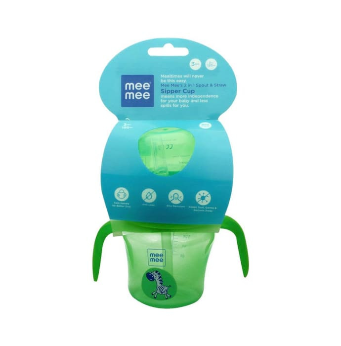 Mee Mee 2 IN 1 Spout and Straw Sipper Cup Green