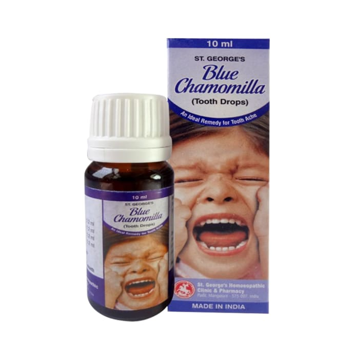 St. George's Blue Chamomilla Tooth Drop Pack of 3