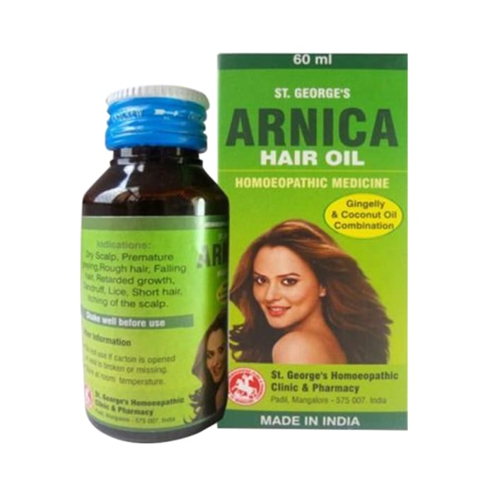 St. George's Arnica Gingelly & Coconut Hair Oil Pack of 2