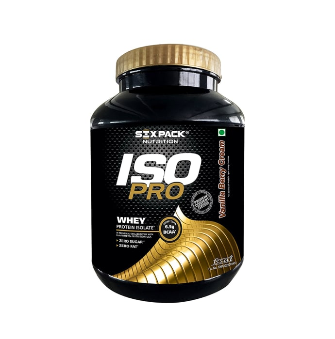Sixpack Nutrition IsoPro Whey Protein Isolate Vanilla Berry Cream