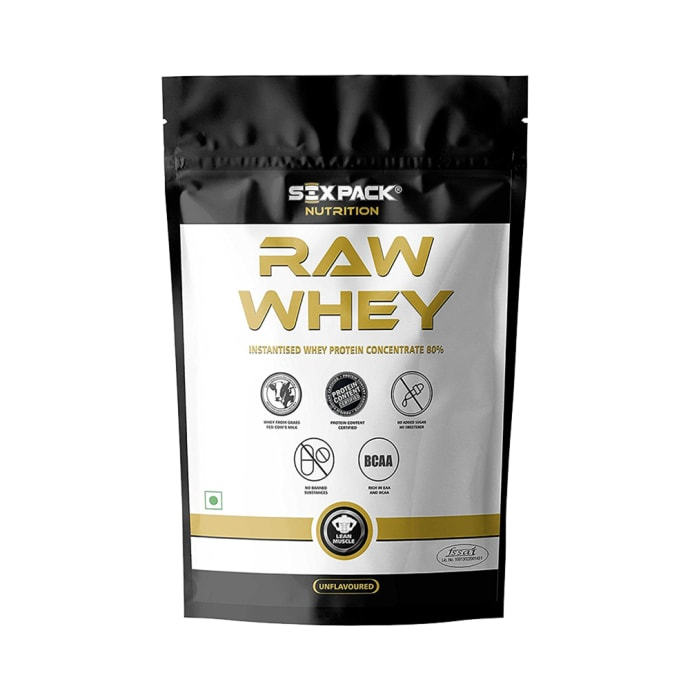 Sixpack Nutrition Raw Whey Instantised Whey Protein Concentrate 80%