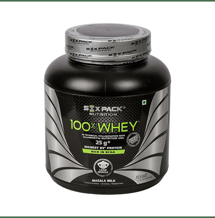 Sixpack Nutrition 100% Whey Masala Milk