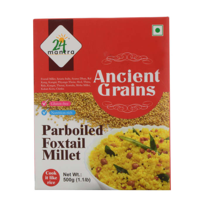 24 Mantra Organic Ancient Grains Parboiled Foxtail Millet