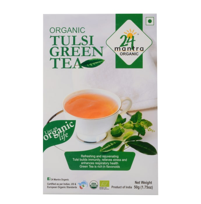 24 Mantra Organic Tulsi Green Tea