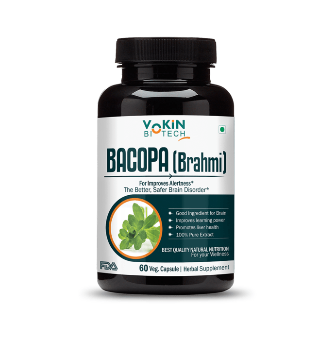 Vokin Biotech Bacopa Monnieri (Brahmi) Extract 500mg Capsule