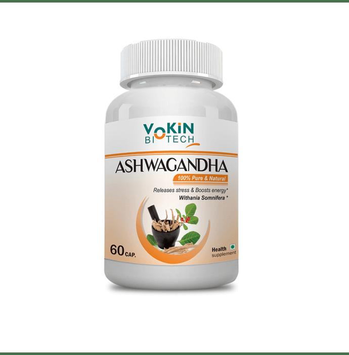 Vokin Biotech Pure Herbs Ashwagandha (Withania Somnifera) Capsule