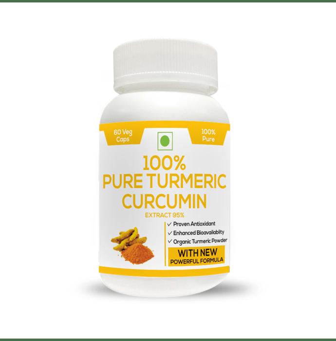 Perennial Lifesciences Organic Turmeric Curcumuin Extract 95% Piperine 95% Extra Bioavailable 800mg Veg Capsules