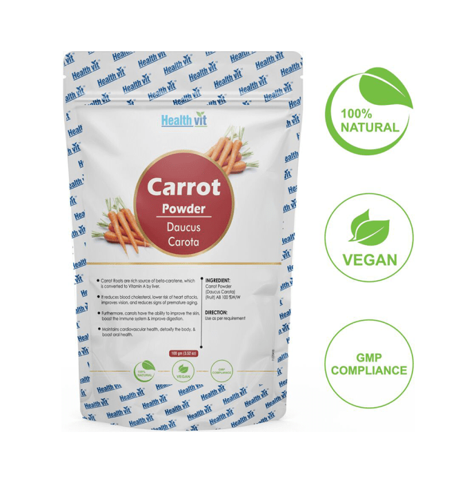 HealthVit Natural Carrot (Daucus Carota) Powder