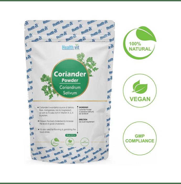 HealthVit Natural Coriander (Coriandrum Sativum) Powder