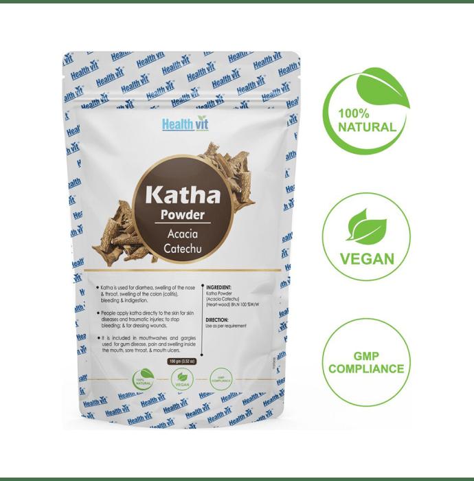 HealthVit Natural Katha (Acacia Catechu) Powder