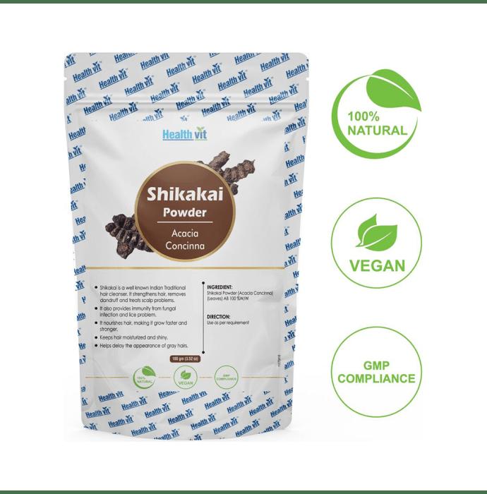 HealthVit Natural Shikakai (Acacia Concinna) Powder