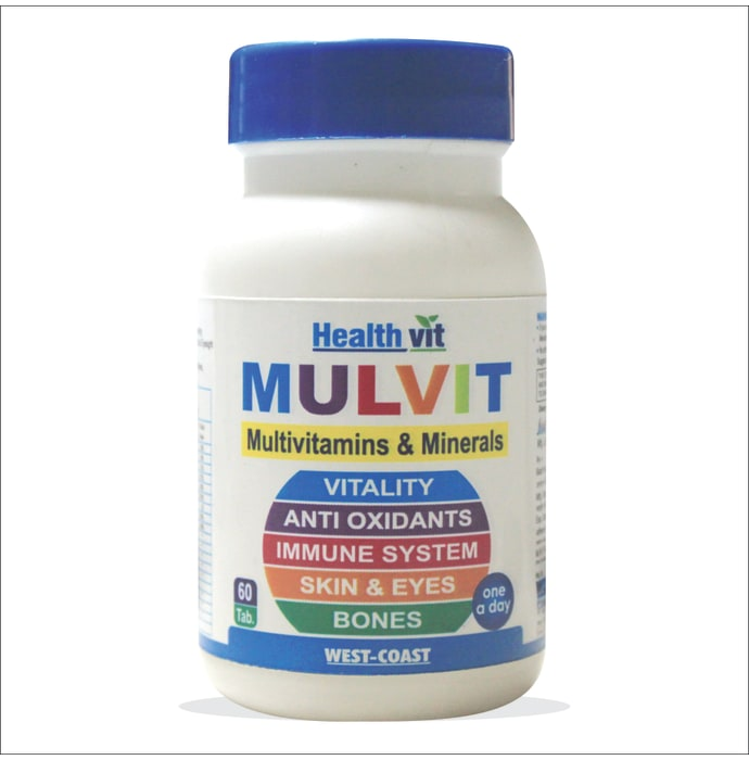 HealthVit Mulvit Multivitamins and Minerals with 33 Nutrients (Vitamins, Minerals & Amino Acids) Tablet