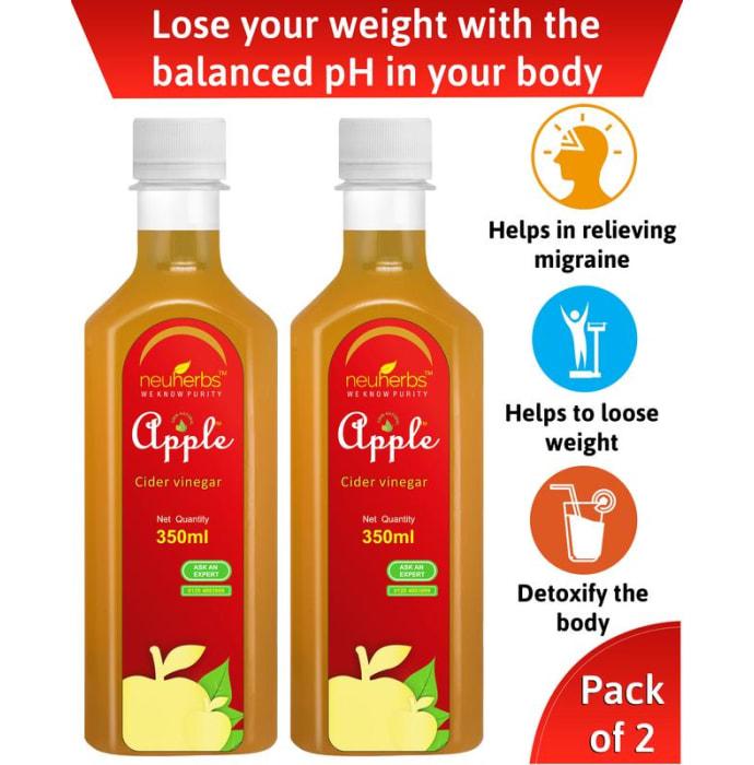 Neuherbs Apple Cider Vinegar- Raw, Unfiltered Pack of 2