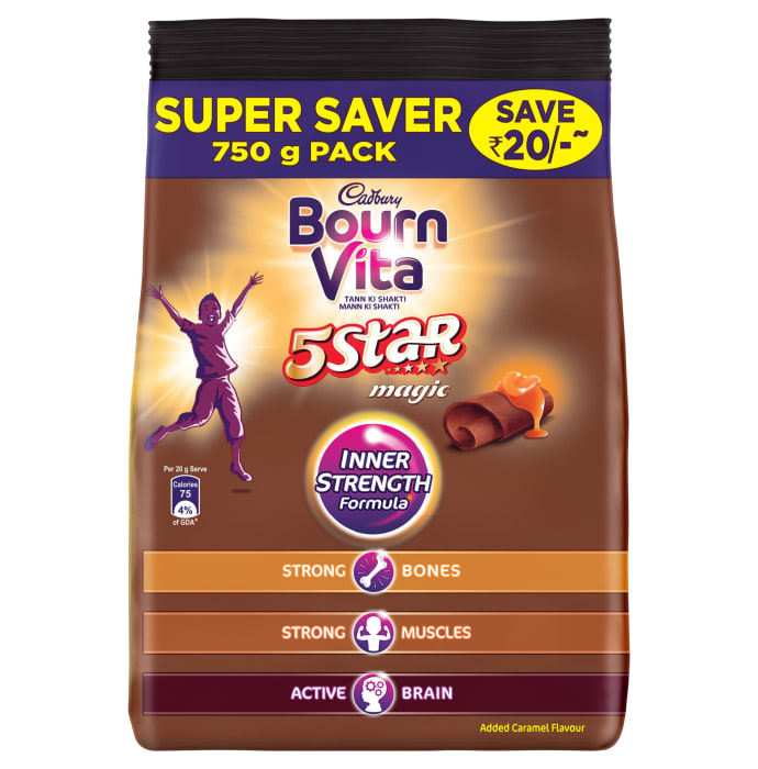 Cadbury Bournvita 5 Star Magic Chocolate Health Drink Refill Pack