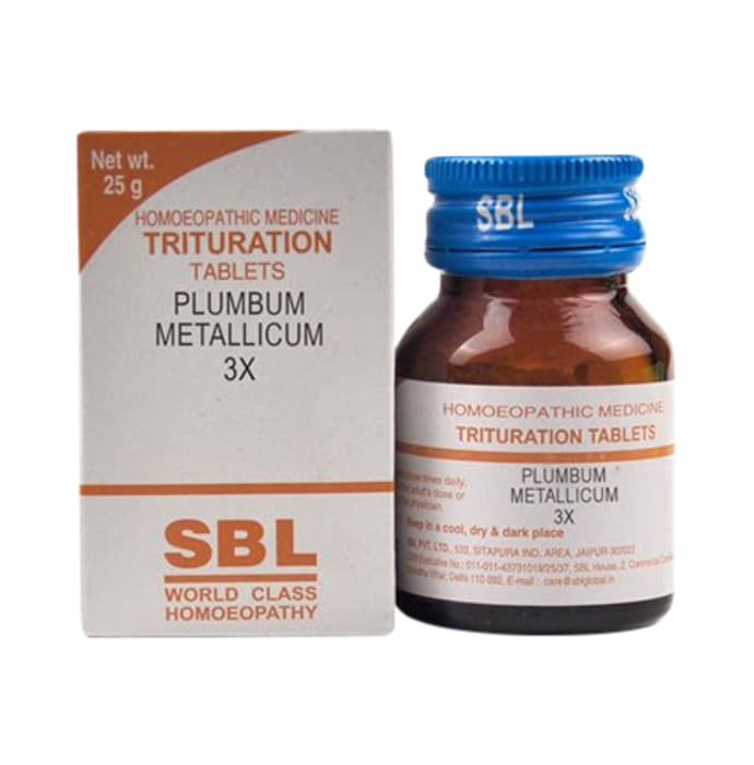 SBL Plumbum Metallicum Trituration Tablet 3X
