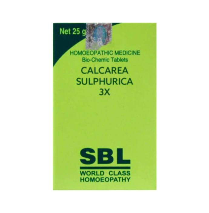 SBL Calcarea Sulphurica Biochemic Tablet 3X