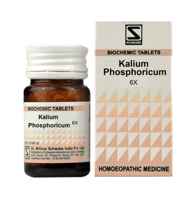 Dr Willmar Schwabe India Kali Phosphoricum Biochemic Tablet 6X