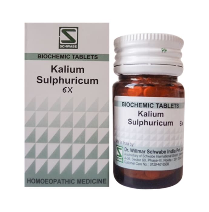 Dr Willmar Schwabe India Kali Sulphuricum Biochemic Tablet 6X