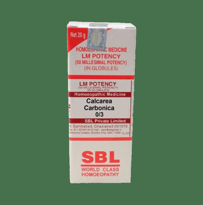 SBL Calcarea Carbonica 0/3 LM