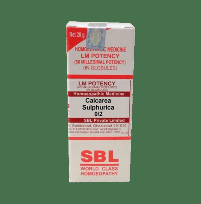 SBL Calcarea Sulphurica 0/2 LM