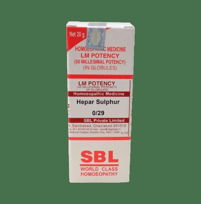 SBL Hepar Sulphur 0/29 LM
