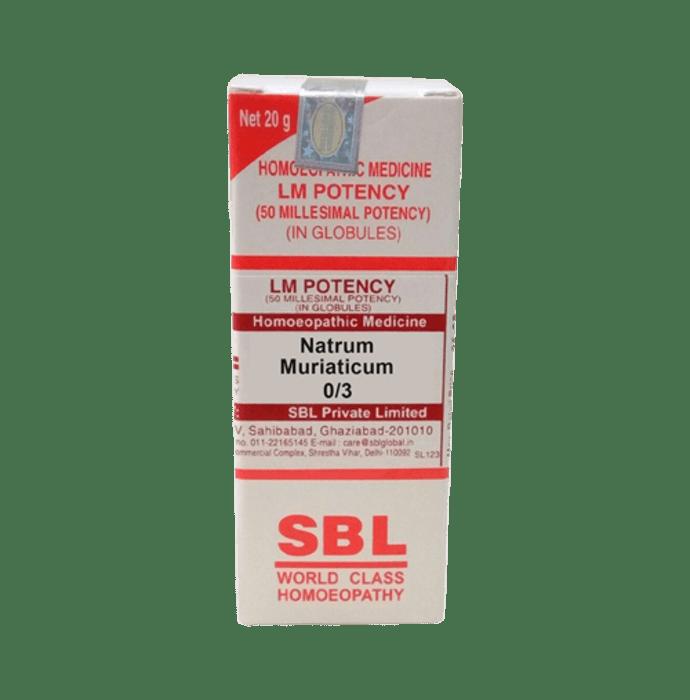 SBL Natrum Muriaticum 0/3 LM