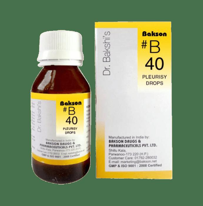 Bakson's B40 Pleurisy Drop