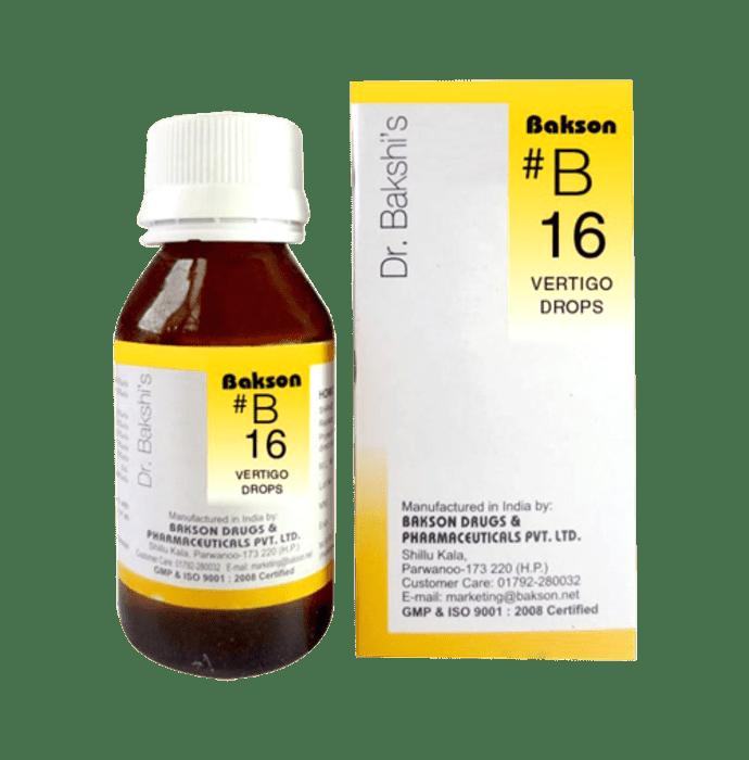 Bakson's B16 Vertigo Drop