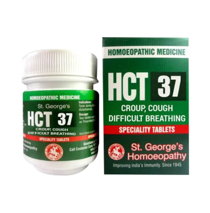 St. George's HCT 37 Croup, Cough, Difficult Breathing Tablet