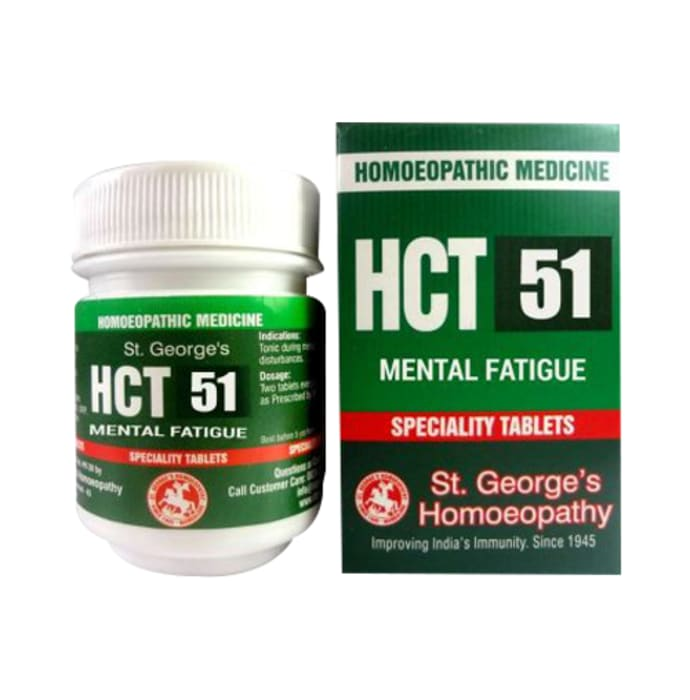 St. George's HCT 51 Mental Fatigue Tablet