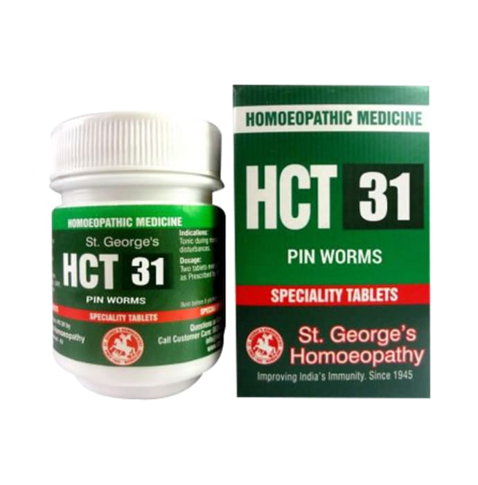 St. George's HCT 31 Pin Worms Tablet