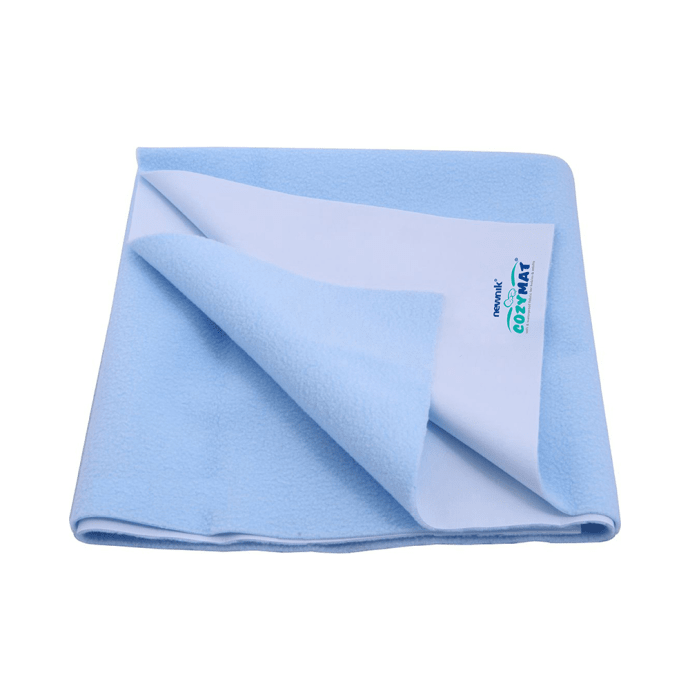 Newnik Cozymat, Dry Sheet, Waterproof, Reusable Mat / Underpad / Absorbent Sheet / Mattress Protector (Size: 200cm X 260cm) Double Bed Sky Blue
